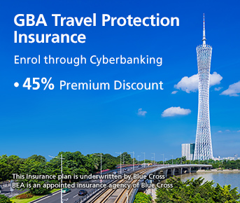 GBA Travel protection Insurance Promotion