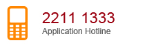 Application Hotline 2211 1333